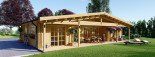Insulated Log Cabin House RIVIERA 13m x 9m (43x30 ft) Building Reg Friendly visualization 1