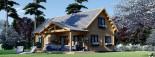 Insulated Log Cabin House VERA 11.9m x 9.7m (39x32 ft) Building Reg Friendly visualization 1