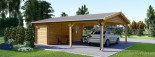 Double Wooden Carport With Shed 7.7m x 6m (25x20 ft) 44 mm visualization 7