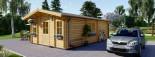 Insulated Residential Log Cabin DIJON 6.6m x 7.8m (22x26 ft) Building Reg Friendly visualization 5