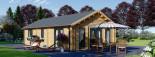 Insulated Residential Log Cabin GRETA 9m x 6m (30x20 ft) Building Reg Friendly visualization 5