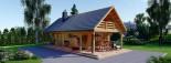 Log Cabin House AURA 6m x 12m (20x40 ft) 66 mm visualization 2