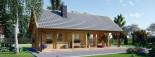 Log Cabin House AURA 6m x 12m (20x40 ft) 66 mm visualization 7