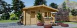 Log Cabin NINA 6m x 6m (20x20 ft) 44 mm visualization 2