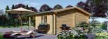 Insulated Log Cabin CAMILA 6m x 6m (20x20 ft) Twin Skin visualization 7