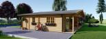 Log Cabin House RIVIERA 13m x 9m (43x30 ft) 66 mm visualization 10