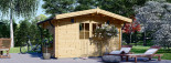 Garden Log Cabin RENNES 4m x 3m (13x10 ft) 34 mm visualization 6
