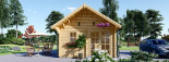 Residential Log Cabin SCOOT 4.5m x 6m (15x20 ft) 44 mm visualization 3
