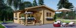 Log Cabin OLIVIA 6m x 6m (20x20) 44 mm visualization 1