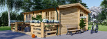 Insulated Residential Log Cabin ALTURA 6m x 6.7m (20x22 ft) Building Reg Friendly visualization 4