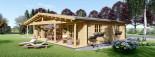 Log Cabin House RIVIERA 13m x 9m (43x30 ft) 66 mm visualization 4