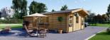Insulated Residential Log Cabin DIJON 6.6m x 7.8m (22x26 ft) Building Reg Friendly visualization 2