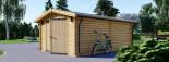 Single Wooden Garage 4m x 6m (13x20 ft) 44 mm visualization 5