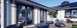 Insulated Residential Log Cabin PAULA 14.5m x 13m (48x43 ft) Building Reg Friendly visualization 10