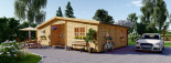 Residential Log Cabin FILL 10.5m x 6m (35x20 ft) 44 mm visualization 2