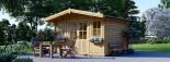 Garden Log Cabin OLYMP 4m x 3m (13x10 ft) 44 mm visualization 1