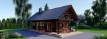 Insulated Log Cabin House AURA 6m x 12m (20x40 ft) Twin Skin visualization 9