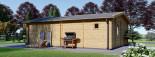 Insulated Garden Studio MARINA 8m x 6m (26x20 ft) Building Reg Friendly visualization 5