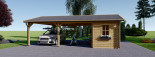 Double Wooden Carport With Shed 7.7m x 6m (25x20 ft) 44 mm visualization 3