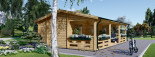 Insulated Residential Log Cabin AMELIA 9m x 6m (30x20 ft) Building Reg Friendly visualization 5
