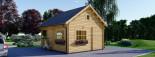 Log Cabin ALBI 5.6m x 5m (18x16 ft) 44 mm visualization 5