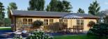 Insulated Log Cabin House JULIA 13.6m x 7.6m (45x25 ft) Twin Skin visualization 3