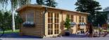 Log Cabin NORA 7m x 3.5m (23x11 ft) 44 mm visualization 1