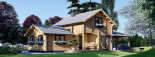 Insulated Log Cabin House HOLLAND 13.5m x 7.5m (44x25 ft) Twin Skin visualization 2