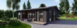 Insulated Garden Studio MILA 8m x 7m (26x23 ft) Twin Skin visualization 9