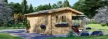 Log Cabin OSLO 5m x 4m (16x13 ft) 44 mm visualization 3