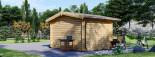 Insulated Garden Log Cabin OLYMP 4m x 3m (13x10 ft) Twin Skin visualization 4
