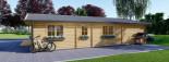 Log Cabin House LINDA 8m x 12m (26x40 ft) 66 mm visualization 6