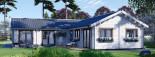 Insulated Residential Log Cabin PAULA 14.5m x 13m (48x43 ft) Building Reg Friendly visualization 3