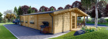 Log Cabin House LINDA 8m x 12m (26x40 ft) 66 mm visualization 5