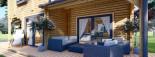 Log Cabin House HOLLAND PLUS 13.5m x 8.5m (44x28 ft) 66 mm visualization 10