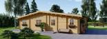 Log Cabin House RIVIERA 13m x 9m (43x30 ft) 66 mm visualization 8