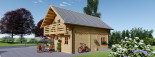 Log Cabin House LANGON 6m x 8.7m (20x29 ft) 66 mm visualization 6