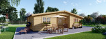 Residential Log Cabin FILL 10.5m x 6m (35x20 ft) 44 mm visualization 6