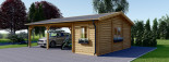 Double Wooden Carport With Shed 7.7m x 6m (25x20 ft) 44 mm visualization 4