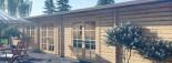 Insulated Log Cabin House JULIA 13.6m x 7.6m (45x25 ft) Twin Skin visualization 10