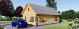 Insulated Residential Cabin EMMA 8m x 5.7m (26x19 ft) Building Reg Friendly visualization 3