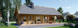 Insulated Log Cabin House AURA 6m x 12m (20x40 ft) Building Reg Friendly visualization 7
