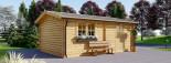 Single Wooden Garage 4m x 6m (13x20 ft) 44 mm visualization 6