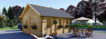 Insulated Residential Log Cabin SCOOT 4.5m x 6m (15x20 ft) Building Reg Friendly visualization 7