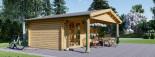 Log cabin CAMILA 6m x 6m (20x20 ft) 44 mm visualization 5