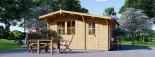 Garden Log Cabin BENINGTON 4.5m x 3m (15x10 ft) 34 mm visualization 7