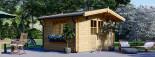 Garden Log Cabin RENNES 4m x 3m (13x10 ft) 34 mm visualization 1