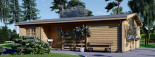 Residential Log Cabin UZES 10.2m x 7m (34x23 ft) 44 mm visualization 3