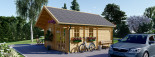 Insulated Residential Log Cabin SCOOT 4.5m x 6m (15x20 ft) Building Reg Friendly visualization 5