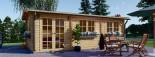 Log Cabin NORA 7m x 3.5m (23x11 ft) 44 mm visualization 2